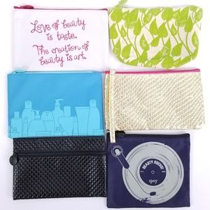 Ipsy Glam Bags from 2014 - lot of 6 NWOT